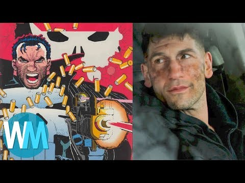 Top 10 Differences Between The Punisher TV  and Comics
