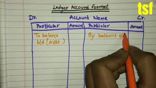 Class 11th Accountancy | Ledger Account Format
