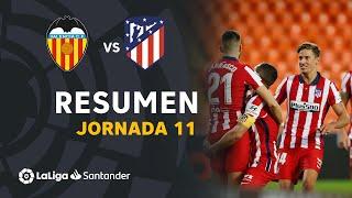Resumen de Valencia CF vs Atlético de Madrid (0-1)