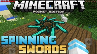 Deadly Spinning Swords Trick (Command Block) | MCPE 1.7/MCPE 1.6