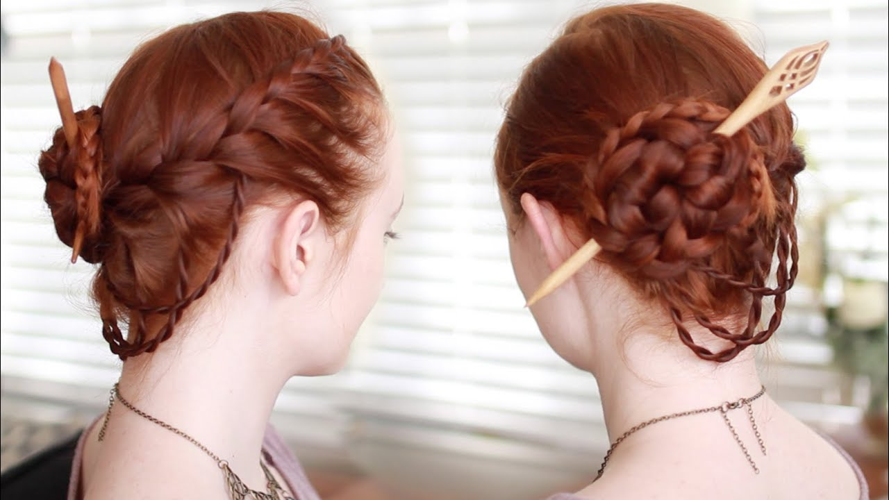 Hair Styles And Braids: Renaissance Faire Updo Tutorial