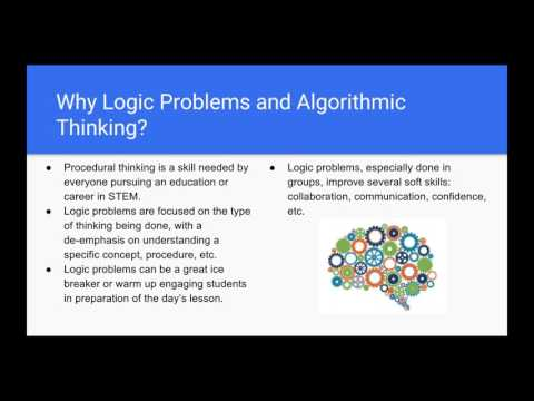 Logical, Algorithmic Thinking Webinar