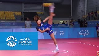 Sepaktakraw Women's Regu Semi-final Thailand vs Vietnam (Day 8) | 28th SEA Games Singapore 2015