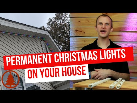 How To Set Up Permanent Animated Christmas Lights On YOUR House