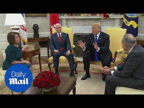 Trump's extraordinary clash with Pelosi and Schumer in full!