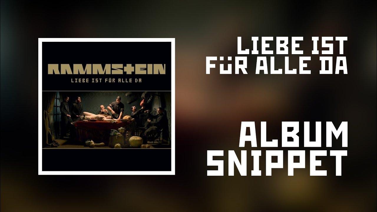 Rammstein Liebe Ist Fur Alle Da Album Snippet New Version