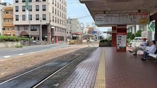 伊予鉄道 いよてつ 松山駅にて 松山市駅行き