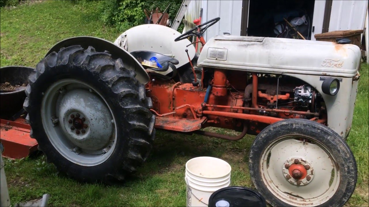 Changing the hydraulic fluid in a Ford 8N tractor  YouTube