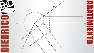 Abatimiento de un punto contenido en un plano (Diédrico).