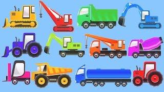 Строительные машины для малышей - Изучаем дорожную и строительную технику. Мультик про машинки