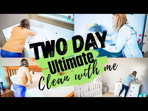 NEW! TWO DAY ULTIMATE CLEAN WITH ME / EXTREME SPEED CLEANING MOTIVATION