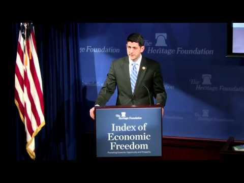 Paul Ryan on the 2015 Index of Economic Freedom
