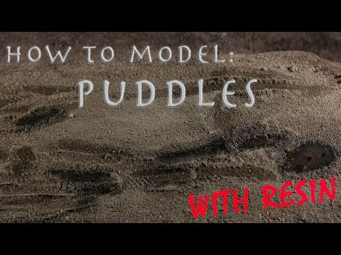 How to model puddles with resin