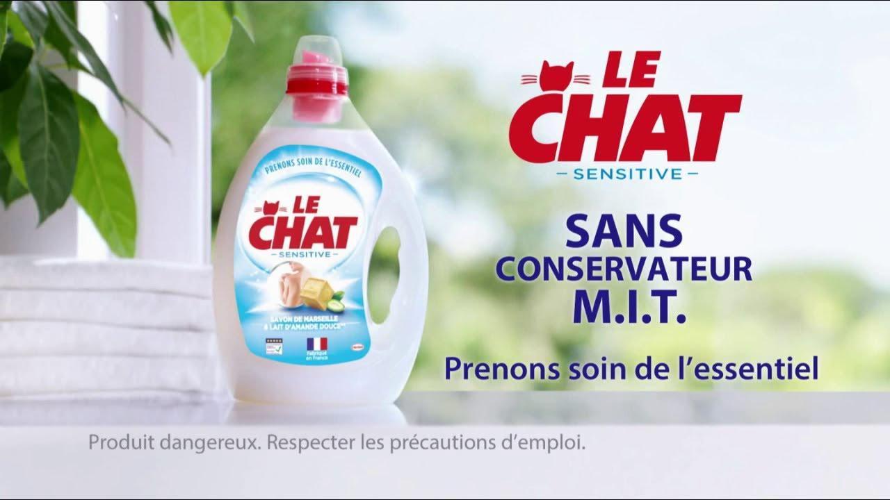 """Musique de la pub Le Chat Sensitive – sans conservateur M.I.T. """"prenons soin de l'essentiel""""  2021"""