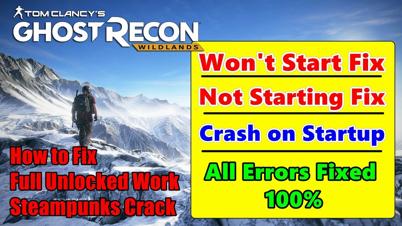 Tom Clancys Ghost Recon Wildlands Wont Start Fix Not Starting Loop Kartini Sony Playstation 4 Launching All Errors 100