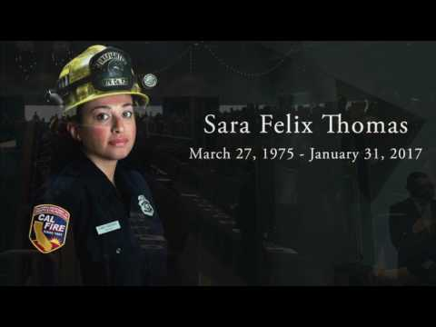 Complete Memorial Services for Firefighter II Sara Thomas