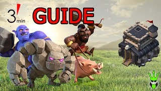 LOW HERO SHATTERED HOBO! - 3 Minute Guide - Clash of Clans - TH9 3 Star Strategy Guide