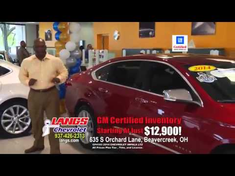 Chevrolet Certified Vehicles At Langs Chevrolet In Dayton