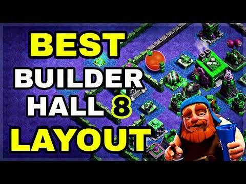 BEST BUILDER HALL 8 BASE LAYOUT WITH REPLAY   BEST BH8 BASE LAYOUT IN COC   CLASH OF CLANS