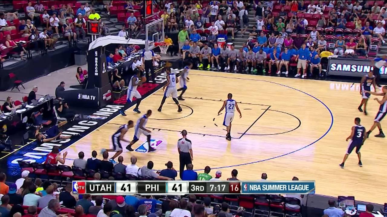 Summer League Utah Jazz Vs Philadelphia 76ers Youtube