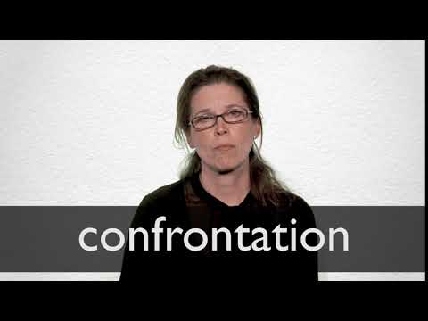 How to pronounce CONFRONTATION in British English