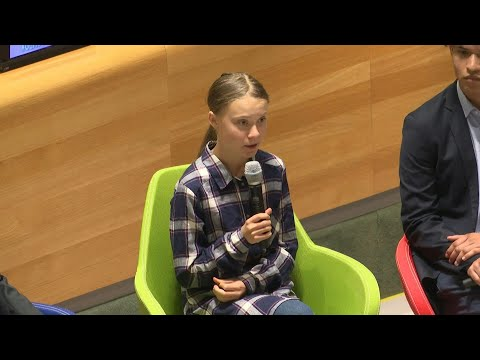 AFP news agency: Greta Thunberg arrives at UN Youth Climate Summit | AFP