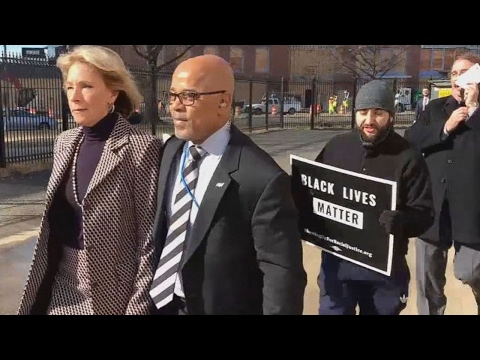 Betsy DeVos BLOCKED From Entering Public School (VIDEO)