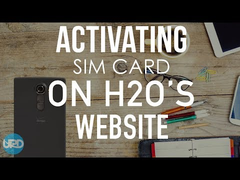 ACTIVATING SIM CARD ON H2O WEBSITE