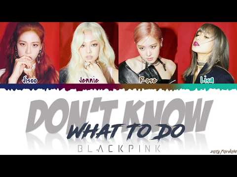 BLACKPINK (블랙핑크) - 'Don't Know What To Do' Lyrics [Color Coded_Han_Rom_Eng]
