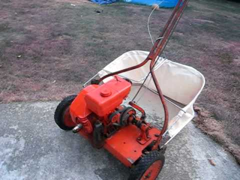 mowing with my 2 stroke antique jacobsen reel mower youtube. Black Bedroom Furniture Sets. Home Design Ideas