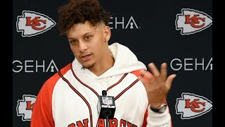 Kansas  City Chiefs quarterback Patrick Mahomes talks about his ankle after loss to Colts