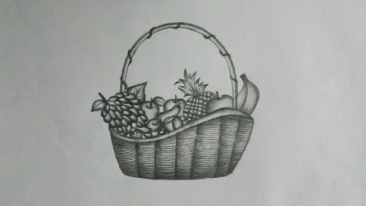 Fruit Basket Pencil Sketch