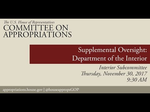 Hearing: Supplemental Oversight - Department of the Interior (EventID=106673)