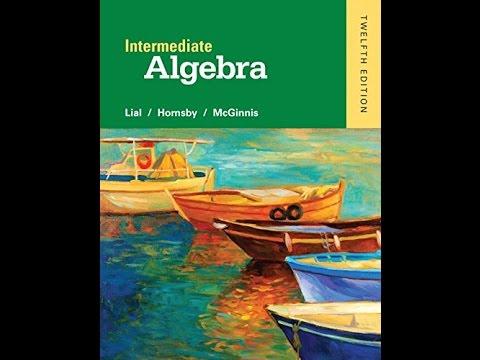 Pdf Intermediate Algebra 12th Edition Youtube