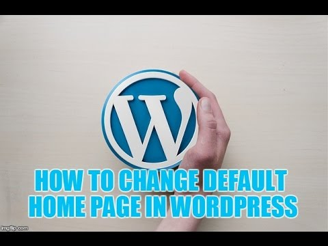 wordpress how to set default page