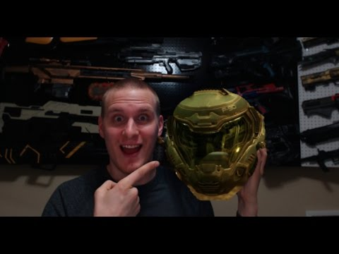 3d Printed Doom Marine Helmet Build Pt 2 Youtube