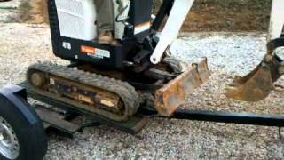 How to Load and Unload a Bobcat Mini Excavator Trailer