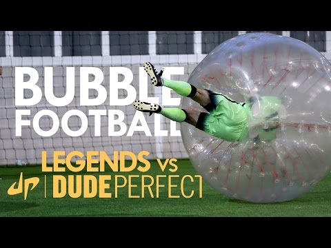 Thumbnail: BUBBLE FOOTBALL | Manchester City Legends v The Dudes