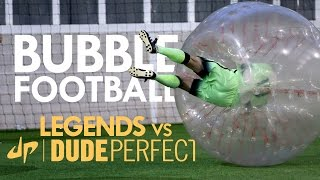 vuclip BUBBLE FOOTBALL | Manchester City Legends v The Dudes