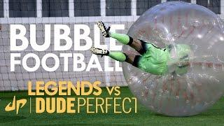 BUBBLE FOOTBALL | Manchester City Legends v The Dudes