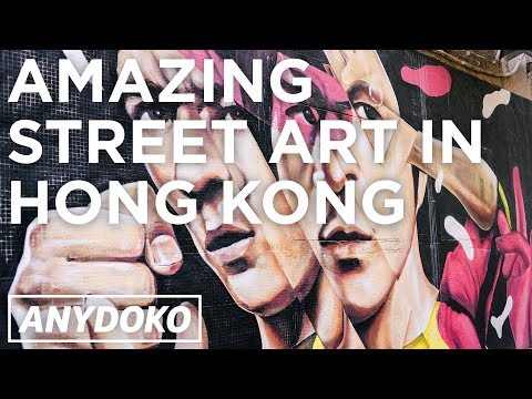 Amazing Street Art in Hong Kong!