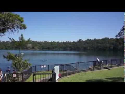 Lake Eacham the Atherton Tableland of Queensland, Australia