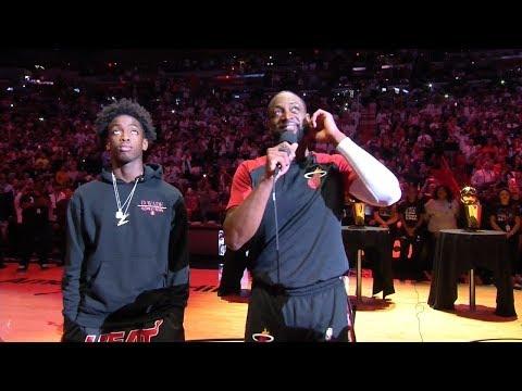 Dwyane Wade's Speech - Final Regular Season Home Game   April 9, 2019   2018-19 NBA Season