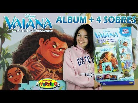 VAIANA Unboxing 1 mostramos el Álbum + 4 sobres de stickers!!! MOANA Unboxing