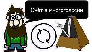 "6 урок: ""Счёт в МНОГОГОЛОСНОЙ записи.""(Курс ""MUSIC THEORY"")."