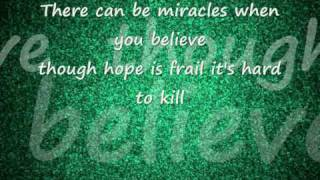 Mariah Carey feat Whitney Houston - When you believe - lyrics