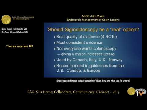 Endoscopic Colorectal Cancer Screening When How What Test For Whom From The Sages Video Library