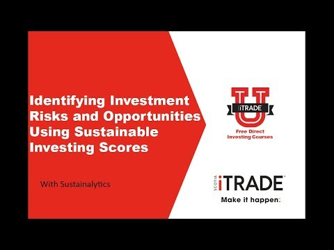 Identifying Investment Risks and Opportunities Using Sustainable Investing Scores (April 2017)