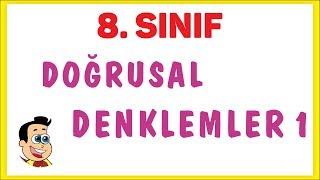 8. Sınıf Doğrusal Denklemler 1 Şenol Hoca Matematik