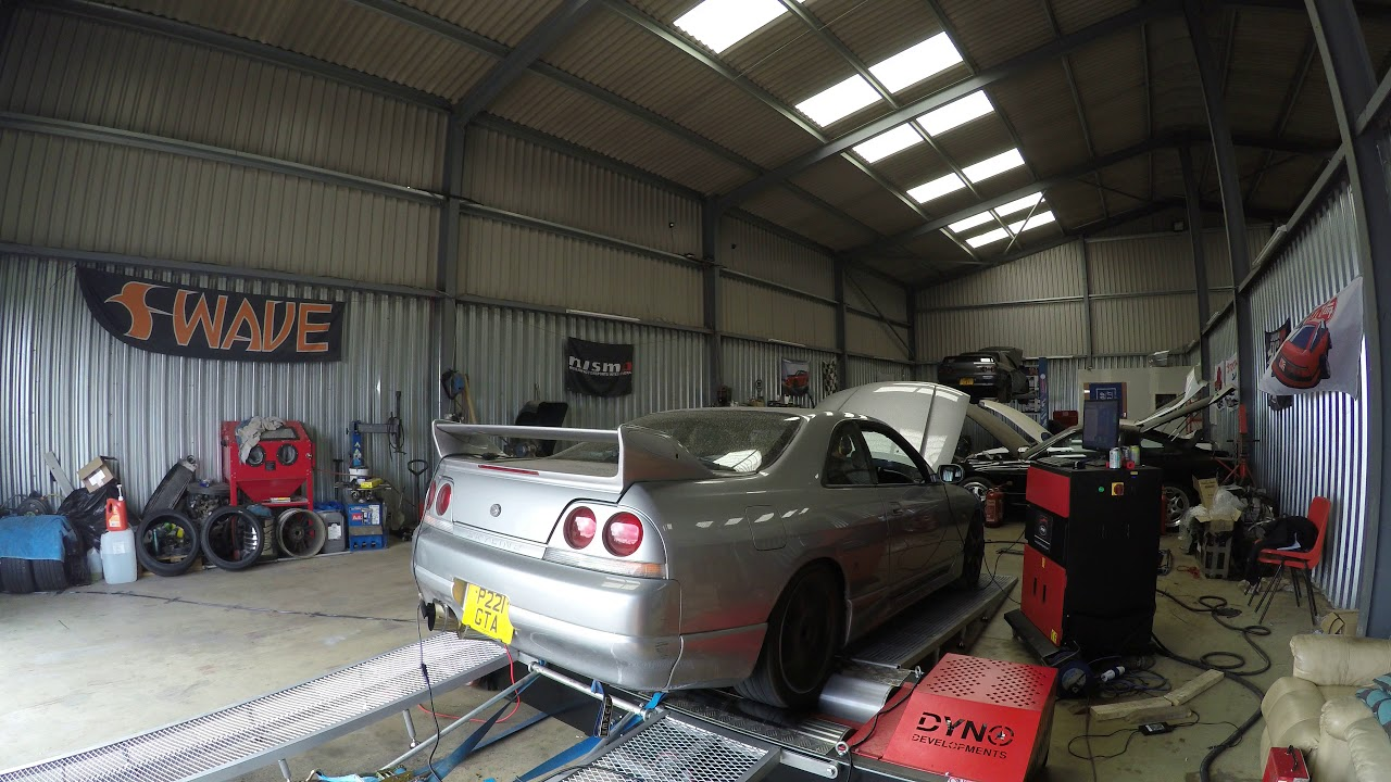 Will P R33 GTSt Dyno Run - 550s, R35 Maf, Hybrid Turbo, Nistune